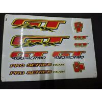 80s NOS GT PRO Series BMX Old School Bike Bicycle Fork Frame Stickers Decals Set