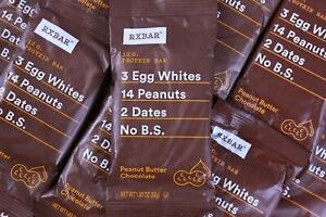 50 RxBar Protein Bar Peanut Butter Chocolate Real Food Gluten Soy & Dairy Free