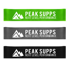 Resistance Bands Set - Green Grey Black Exercise Bands - Physio Yoga Glutes Gym