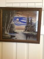 WILLIAM HENRY CHANDLER Antique NY Luminist Painting Pastel Hudson River School