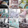 Kids Boys Girls Childrens Bed Duvet Quilt Cover Bedding Set Single Double Junior