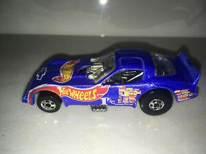 RARE VINTAGE 1990's Hot Wheels PONTIAC FIREBIRD Funny Car light Blue chevy ERROR