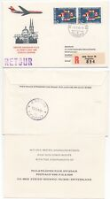 1966 SWITZERLAND Registered 1st Flight Cover ZÜRICH to ZAGREB Swissair INFO CARD