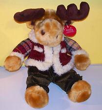 """Dan Dee Dandee~15"""" Reindeer In Jacket & Corduroy Pants~Plush Stuffed Animal"""