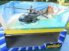 SOLIDO MILITAIRE REF 3815  HELICOPTERE GAZELLE LANCE MISSILES COULEUR KAKI MIB