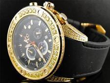 Mens Techno Com KC Joe Rodeo Master Genuine Canary Yellow Diamond Watch 4.35 Ct