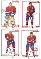 (23) 1989-90 MONTREAL CANADIENS KRAFT POSTCARD NEAR SET AUTOGRAPHED ROY CHELIOS!