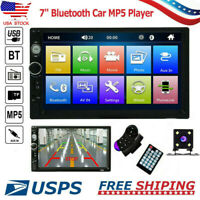 2DIN 7inch HD MP5 Player Bluetooth Car Stereo Radio Touch Screen + Rear Camera