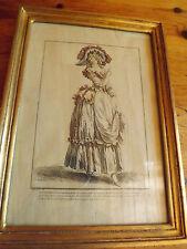GRAVURE DE MODE PAR       Jean-Antoine WATTEAU 1684-1721