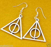 2 Pair Hot Fashion Harry Potter The Deathly Hallows Charm earrings