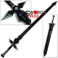 Kirito Dark Repulser Sword Art Online Carbon Steel Replica Black Blade SAO
