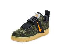 Nike Mens Air Force 1 UT Low PRM WIP Camo Green/Orange AV4112-300