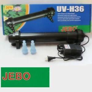 Genuine JEBO Aquarium Fish Tank External UV Sterilizer Light Marine, Fresh Water