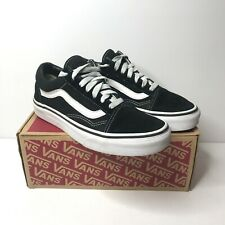 Vans Off The Wall Old Skool UK Size 4 Women's Classic Black White Skate Shoes