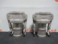 "Dixon C-150 316 Cam & Groove Type C Coupler Hose Shank 1/2"" Lot of 2 New"