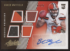 2018 Panini Absolute Baker Mayfield Quad Jersey Ball Relics RC Auto /25