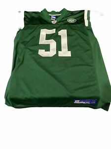 Preowned Reebok #51 Jonathon Vilma New York Jets Jersey Size 50