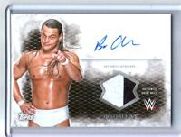 WWE Bo Dallas 2015 Topps Undisputed Autograph Relic Card White & Black