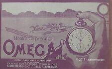 PUBLICITE OMEGA MONTRE CHRONOGRAPHE COMPTEUR COURSE DE CHEVAUX DE 1919 FRENCH AD