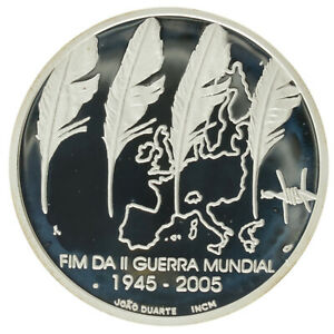 Portugal - Silver 8 Euro Coin - 'End of World War II' - 2005 - Proof