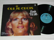 CLAUDE VALADE Oui Je Crois LP Collaboration Records Quebec Canada Vinyl Album VG