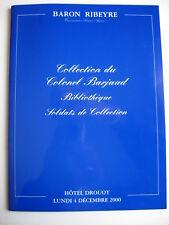 RARE CATALOGUE D'UNE BIBLIOTHEQUE MILITAIRE ET SOLDATS DE COLLECTION  - NEUF