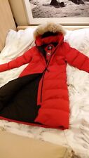 BRAND NEW RED LABEL EDITION 100% LADY RED CANADA GOOSE MYSTIQUE LG PARKA JACKET