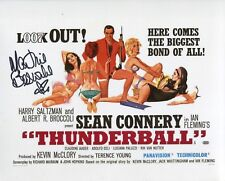 007 Bond girl Martine Beswick signed THUNDERBALL 8x10 poster photo