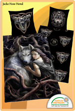 Bettwäsche Anne Stokes - Motiv: Wolf  - Renforce Gr. 135x200 cm NEU