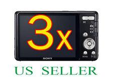 3x Sony CyberShot DSC-W650 W690 Camera Clear LCD Screen Protector Guard Film