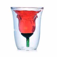 180ml Rose Flower Glass Coffee Beer Red Wine Tea Mug Cocktail Bar Drinking Cup