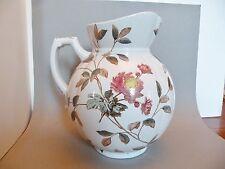 "shlf LARGE Antique victorian transfer Stafforshire pottery jug pitcher 11 x 8"""