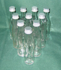 25 Glasflaschen Mini kleine Flaschen, Inhalt 40 oder 20 ml Schraubverschluss NEU