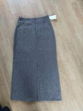 cf1616b36b hirsch tweed long lined ladies skirt with splits New size 12