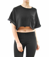 Wildfox Women's Science Layering Sweatshirt Clean Black Size S RRP £89 BCF61