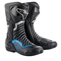 Alpinestars SMX S-MX 6 V2 Black /Blue (177) Motorcycle Racing & Sport Boots