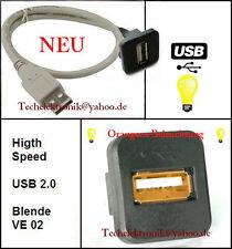 USB Einbaubuchse BELEUCHTUNG 150cm Kabel BMW E34 E30 E60 E61 E90 E91 E92 E93 F11