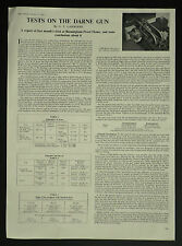 Tests On The Darne Gun Birmingham Proof House 1960 1 Page Article
