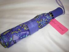 NWT Betsey Johnson Brolly KALEIDOSCOPE DREAMS Purple Compact Automatic Umbrella