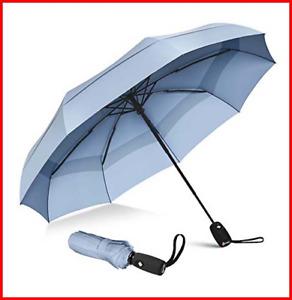 Repel Umbrella Windproof Double Vented Travel Umbrella with Teflon Coating Slate