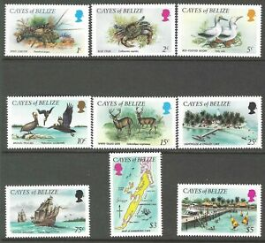 CAYES OF BELIZE :1984 Fauna definitive set  SCOTT 1-9 MNH