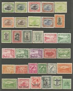 PAPUA NEW GUINEA  FROM 1901 SMALL FRESH MINT COLLECTION OF ALBUM REMAINDERS