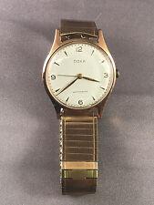Vintage Doxa Antimagnetic 14k Rose Gold Men's Watch Mechanical Wristwatch