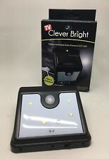 Outdoor Sensor Light - Solar Powered Clever Brite Night Light Automatic Lighting
