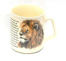 Lion  Design Pottery China Mug Safari NEW FREE POSTAGE