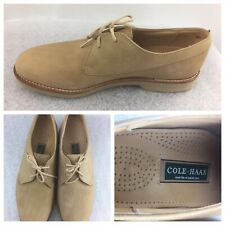 Cole Haan Mens Size 8.5 D Camel Mat Leather Casual Shoe #11439 Made In USA