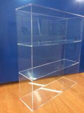 "Acrylic Lucite Countertop Display Case ShowCase Box Cabinet 14""w x 4 1/4"" x 19""h"