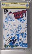 Danger Girl: Renegade # 1 Convention- CBCS 9.8 WHITE Pages - SS J Scott Campbell