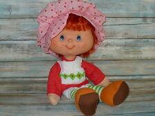 "Vintage STRAWBERRY SHORTCAKE Large Vinyl Head Rag Doll Ragdoll 16"" tall w/Comb"
