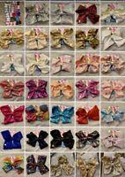 "JoJo Siwa 8"" Lg Girls/Teen Sequin Hair Bows - Choose from 31 Colors! US Seller!!"